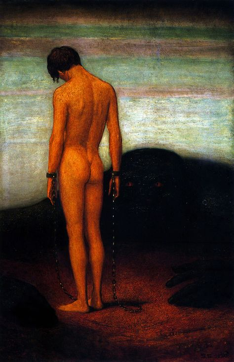 Sascha Schneider - Feeling of Dependence, 1920