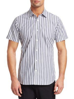 Club Monaco Mens Slim Fit Short Sleeve Button Down Shirt White Multi Floral