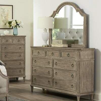 One Allium Way Tuscany 9 Drawers Dresser With Mirror One Allium Way Dresser With Mirror 9 Drawer Dresser Dresser Sets