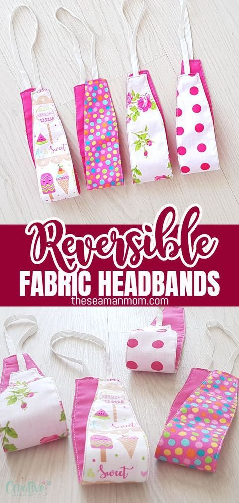 If you've been looking for new ways to style your hair, then look no more cause I've got the perfect idea: a fabric headband pattern! Super cute and super easy! And the best part is they are reversible so you can wear them many ways and fit many styles!  #easypeasycreativeideas #sewing #sewingpattern #sewingproject #sewingidea #sewingwithscraps #sewingforbeginners #beginnersewing #fabricscraps #hairaccessories