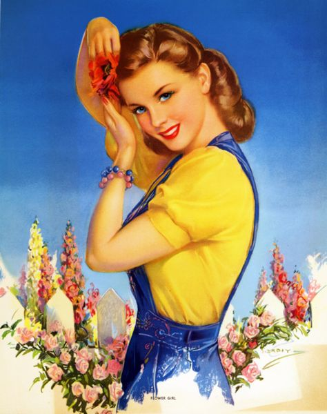 vintage pin up/white picket fence