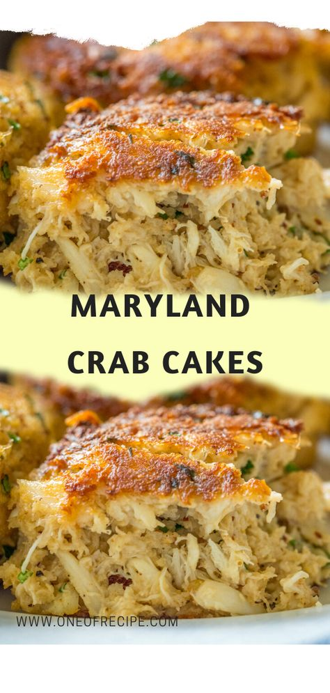 Maryland Crab Cakes – One Of RecipeYou can find Crab cakes and more on our website.Maryland Crab Cakes – One Of Recipe Crab Cake Recipes, Fish Recipes, Seafood Recipes, Whole Food Recipes, Dinner Recipes, Cooking Recipes, Healthy Recipes, Seafood Appetizers, Paula Deen Crab Cakes Recipe