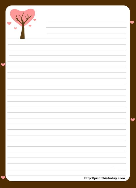Free Printable Stationery Paper | Free Printable Stationary with Lines