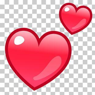 Dos Corazones Rojos Amor Emoji Art Iphone Amor Texto Encantador