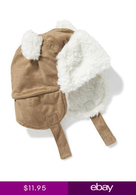 3377e96c98cee Old Navy Baby Sherpa Lined Trapper Hat Size 6 12 Months Bear Ears BROWN Tan  NEW