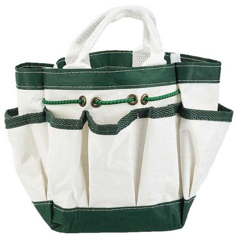 Hawk Canvas Garden Tote With 7 Pockets White 9 Garden Tote Bag Garden Tote Multi Pocket Bag