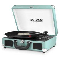 Victrola Vintage Bluetooth Suitcase Turntable with Built-In Stereo Speakers-JCPenney 16th Birthday Gifts, Birthday Wishlist, Birthday List, Victrola Record Player, Suitcase Record Player, Cute Office Supplies, Recording Studio Design, Room Ideas Bedroom, Dream Bedroom