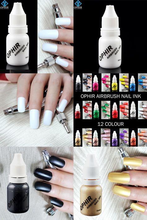 24 Luxury Nail Art Supplies Ophir White Acrylic Paint Airbrush