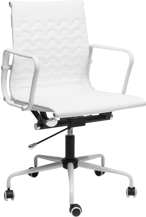 Bureaustoel Wit Design.Bureaustoel Wave Wit Verstelbaar Kare Design Woonwinkel