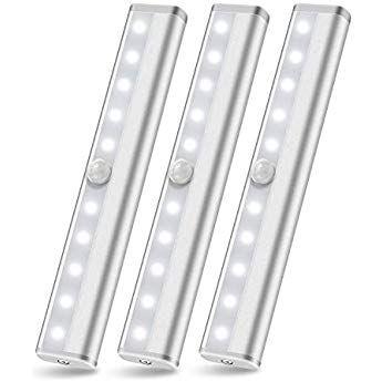 人感センサーライト Szokled 電池式 Ledセンサーライト 足元灯 階段ライト 屋内 室内照明 両面テープ 磁石付き 夜間自動点灯 消灯 クローゼット キッチン 玄関 廊下 寝室 3個セット センサーライト ライト 照明のアイデア