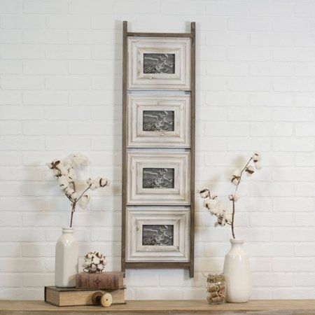 American Mercantile Wood Ladder Collage Picture Frame Walmart Com Wood Ladder Traditional Picture Frames Collage Picture Frames