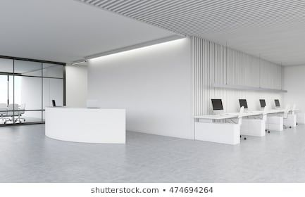 Reception Desk In Lobby Meeting Room And Office Area In Background Concept Of Modern Company Office 3d Rende Reception Desk Office Meeting Room Meeting Room Business office office room background