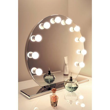 Diamond X Mirror Finish Hollywood Vanity Mirror Walmart Com Hollywood Vanity Mirror Hollywood Mirror Mirror With Lights