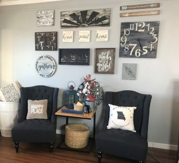 Wall Gallery Package 3 Living Room Furniture Arrangement Wall Display Farmhouse Wall Decor