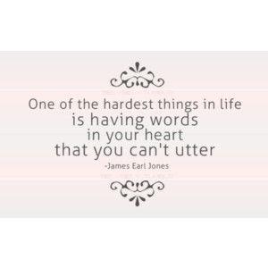 Heavy heart.
