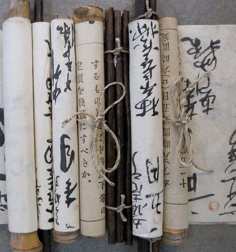 hand made scrolls (Photo by donna watson)