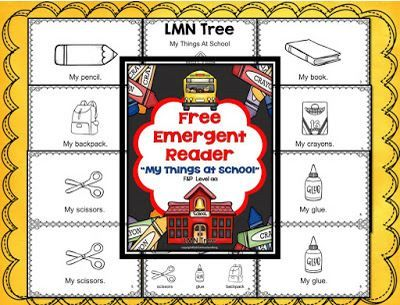 Literacy Activity of the Week: Emergent Reader for Back to School - PediaStaff