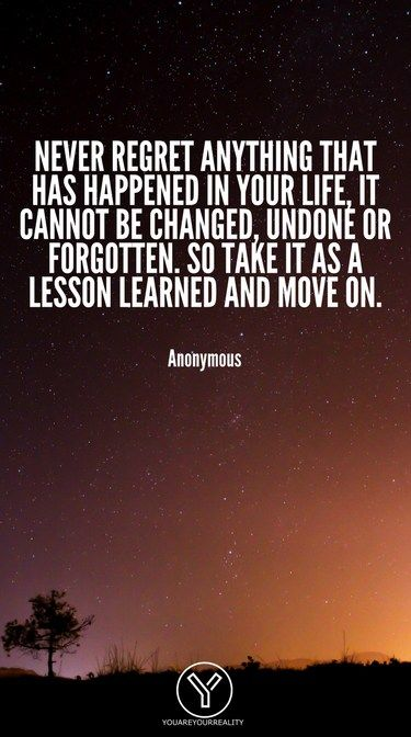 20 Quotes About Living Life To The Fullest With No Regrets You Are Your Reality Live And Learn Quotes Past Quotes Quotes To Live By Wise