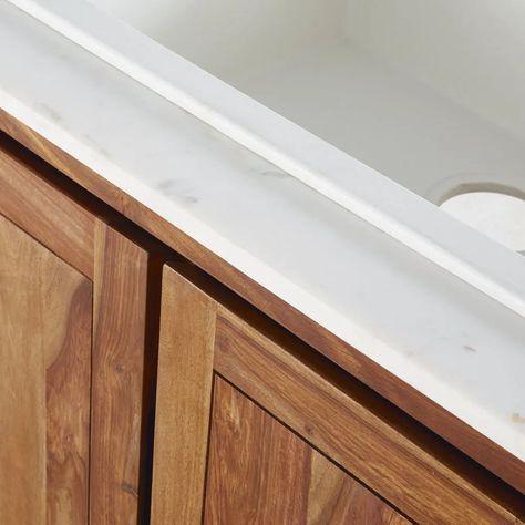 Mobile basso da cucina con lavello in legno massello di ...