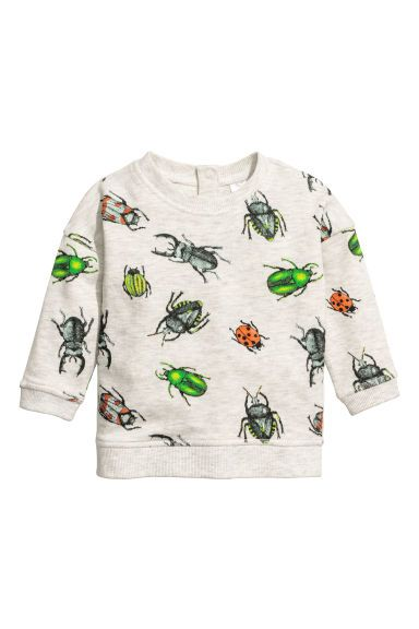 a791dba47 Printed sweatshirt - Light grey/Insects - Kids   H&M 1   Baby ...