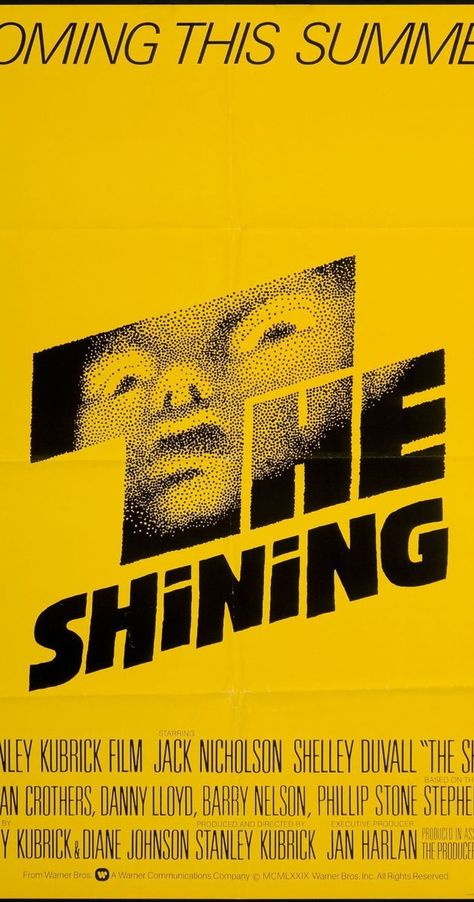 Directed by Stanley Kubrick.  With Jack Nicholson, Shelley Duvall, Danny Lloyd, Scatman Crothers. A family heads to an isolated hotel for the winter where an evil and spiritual presence influences the father into violence, while his psychic son sees horrific forebodings from the past and of the future.