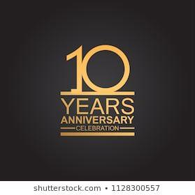 10 Years Anniversary Logotype Single Line のベクター画像素材 ロイヤリティフリー 1011798532 記念ロゴ ロゴタイプ ロゴデザイン