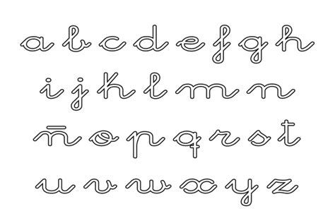 El Abecedario En Letra Cursiva Para Imprimir Imagui Moldes De Letras Cursiva Abecedario Minusculas Letras Cursivas