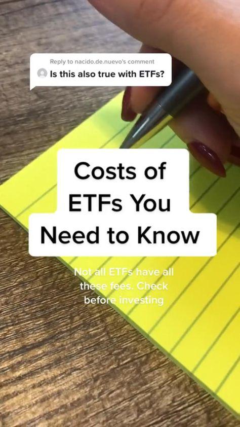 Cost of ETFs