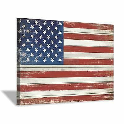 Ebay Link American Flag Canvas Wall Art Usa Flag On Wood Texture Background Picture Paint Home Wood Texture Background Canvas Wall Art Textured Canvas Art
