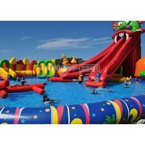 Buy Online Inflatable Swimming Pool Games Toy Inflatable Swimming Pool Water Slides Backyard Inflatable Water Park