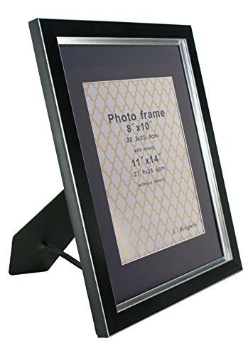 Kingwin Picture Frame Pf31006 Black And Silver 11x14 Mat Open For 8x10 Click Image For More Details It Is An Affi Frame Picture Frame Colors Picture Frames