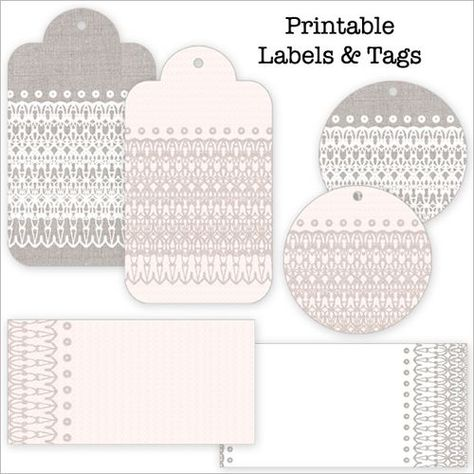 Pretties to Print – Lace Stationery and Tag Set