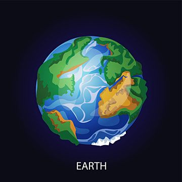 Planet Earth In Dark Space Cartoon Illustration Planet System Earth Png And Vector With Transparent Background For Free Download Cartoon Illustration Planet Earth From Space Cartoon