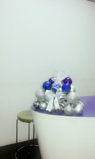 Little christmas tree made of balls