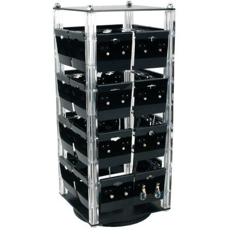Revolving Rotating Earring Display Jewelry Counter Top W Cards