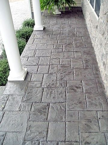 Stamped Concrete Patterns Front Porce For Those Who Have Hard Floors Like Concrete Stone Or Concrete Area Concrete Patio Concrete Porch Paint Concrete Patio