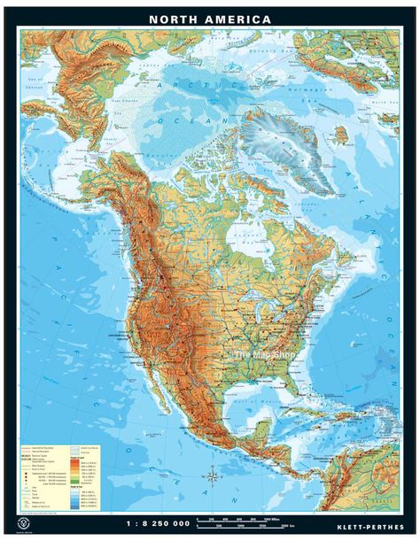 Physical Map Of North America Products I Love Pinterest - World map north america