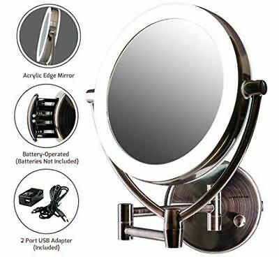 Advertisement Ovente Wall Mount Led Lighted Makeup Mirror 9 5