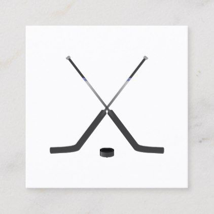 Hockey Sticks Hockey Player Square Business Card Zazzle Com Hockey Stick Square Business Card Hockey Players