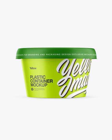 Download Matte Plastic Container Mockup In Pot Tub Mockups On Yellow Images Object Mockups Mockup Free Psd Mockup Free Logo Mockup Psd