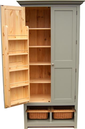 Large Free Standing Kitchen Cabinet Portable Pantry Area Love The Open Basket Drawers And Door Shelves Too Dream Ideas Pinterest