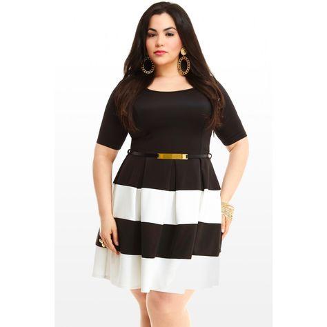 Vestidos Negros Para Gorditas Outfits Colorblock Dress