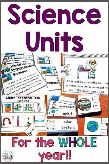 Science Units Bundle For Special Education Leveled Science