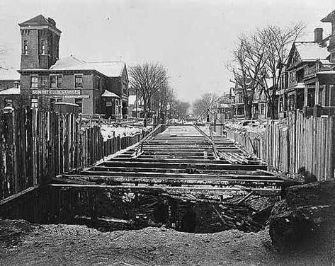 Selby Avenue Streetcar Line Construction St Paul Mn Minnesota Old Bridge Time Travel