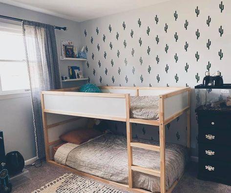 Kura Reversible Bed White Pine Twin Ikea Kids Room Bedroom Children Boy