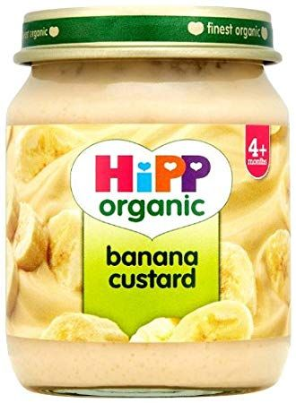 Hipp Organic Stage 1 From 4 Months Banana Custard 6 X 125 G Pack Of 2 Total 12 Pots Review Hipp Organic Baby Food Recipes Gerber Baby Food