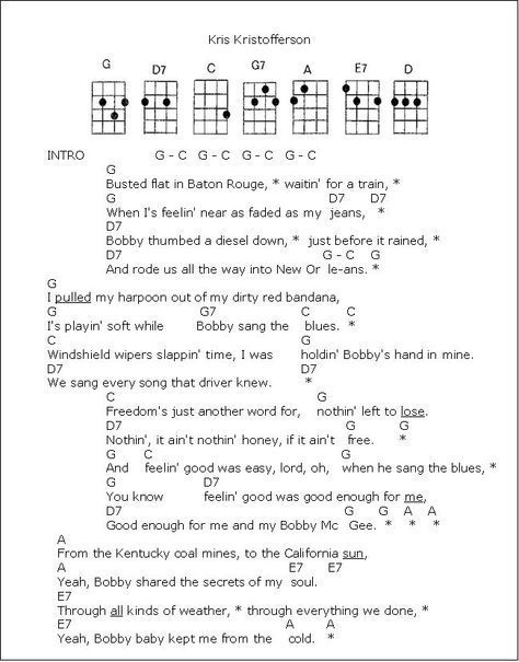 Me And Bobby Mcgee 1 Png 650 830 Pixels Guitar Chords And Lyrics