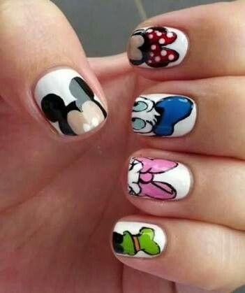 Nail Art Design Cartoon Characters Disney Cartoon Characters Disney Nails Nail Art Disney Nails