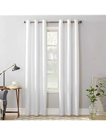 No 918 Montego Casual Textured Grommet Curtain Panel 48 X 84 White Colors Patterns In 2019 White Paneling Grommet Curtains Panel Curtains