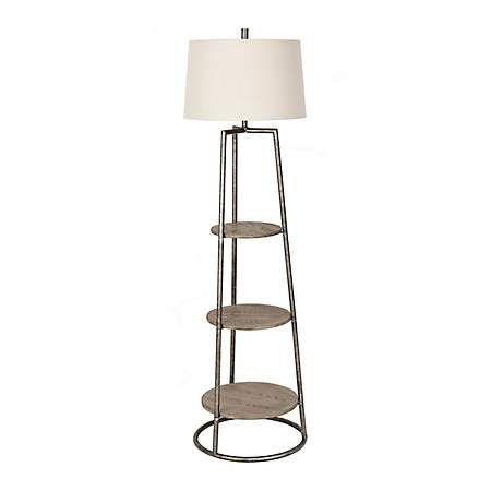 Kirkland S Floor Lamp With Shelves Rustic Floor Lamps Lamp